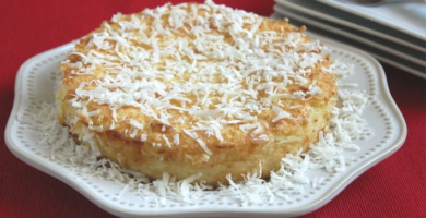 receta torta de coco
